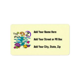 2das camisetas y regalos del cumpleaños de la sire etiquetas de dirección