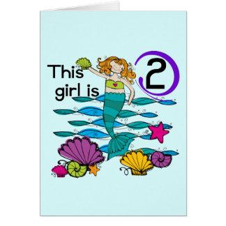 2das camisetas y regalos del cumpleaños de la sire tarjeta pequeña