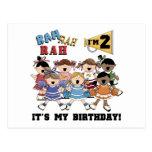 2das camisetas y regalos del cumpleaños de la postal