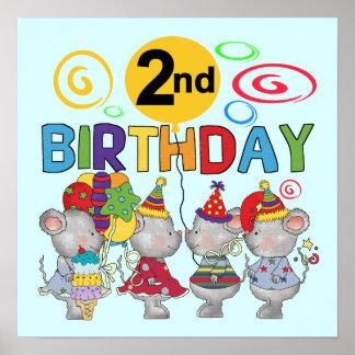2das camisetas y regalos del cumpleaños de los rat póster