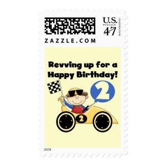 2das camisetas y regalos del cumpleaños del coche sello postal