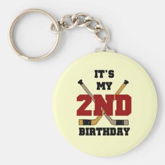 2das camisetas y regalos del cumpleaños del hockey llavero redondo tipo pin