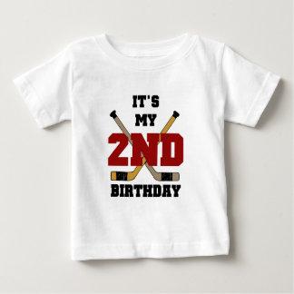 2das camisetas y regalos del cumpleaños del hockey polera