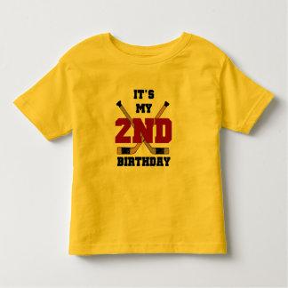 2das camisetas y regalos del cumpleaños del hockey poleras