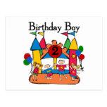 2das camisetas y regalos del cumpleaños del muchac postal