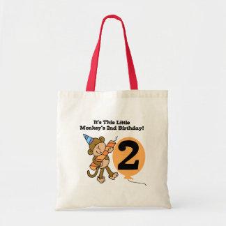 2das camisetas y regalos del cumpleaños del pequeñ bolsa de mano