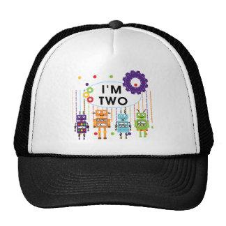 2das camisetas y regalos del cumpleaños del robot gorros bordados