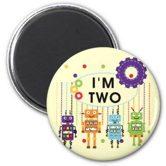 2das camisetas y regalos del cumpleaños del robot imán de nevera