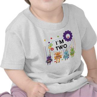 2das camisetas y regalos del cumpleaños del robot