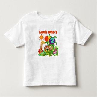 2das camisetas y regalos del cumpleaños del safari playera