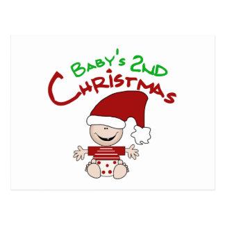 2das camisetas y regalos del navidad del bebé postales
