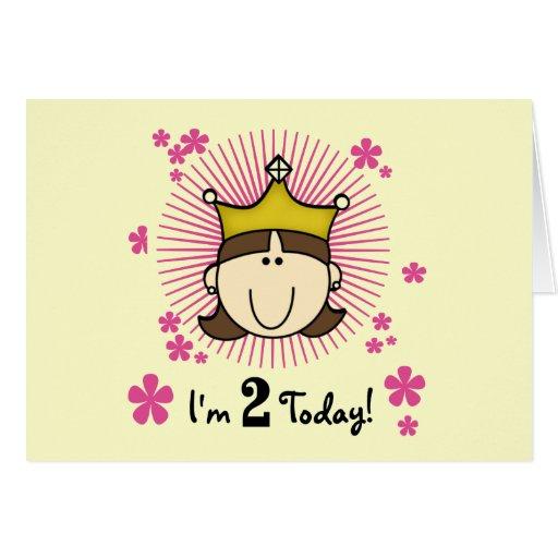 2das cumpleaños camisetas y regalos de la princesa felicitaciones
