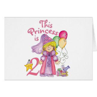 2das cumpleaños invitaciones de la princesa tarjeta pequeña