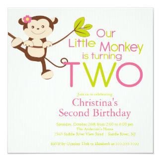 2das invitaciones de la fiesta de cumpleaños del invitacion personalizada
