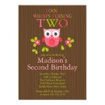 2das invitaciones de la fiesta de cumpleaños del comunicado personal