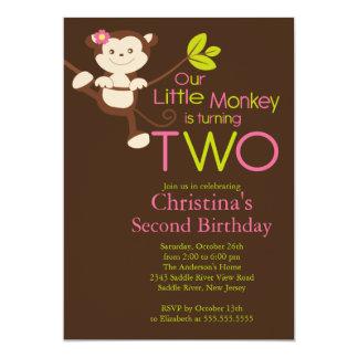 2das invitaciones de la fiesta de cumpleaños del invitación