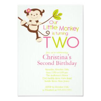2das invitaciones de la fiesta de cumpleaños del comunicado personalizado