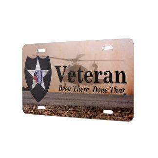 2das placas del auto del remiendo de los veterinar placa de matrícula