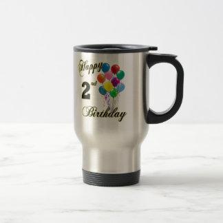 2das tazas y tazas felices de café del cumpleaños