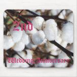 2do aniversario de boda - algodón alfombrilla de raton