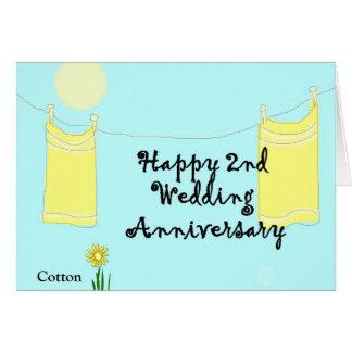 2do Aniversario de boda Tarjeta De Felicitación