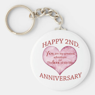 2do. Aniversario Llavero Redondo Tipo Pin