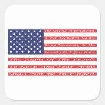 2do Bandera de la enmienda Calcomanías Cuadradass