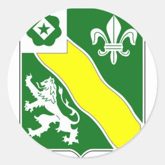 2do Batallón, 63.a armadura Pegatina Redonda