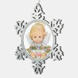 2do Bebé del dulce del navidad Adorno De Peltre En Forma De Copo De Nieve