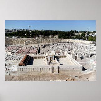 2do Beis HaMikdash templo santo en Yerusalem Posters