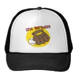 2do Béisbol del cumpleaños Gorros Bordados