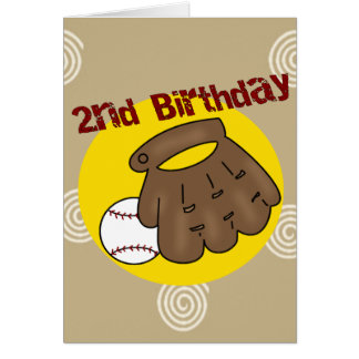2do Béisbol del cumpleaños Tarjeta De Felicitación