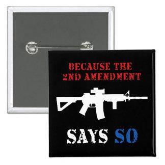 2do Botón de la enmienda Pins