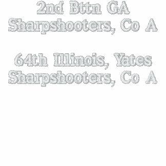 2do Buenes tiradores de Bttn GA, Co A 64.a Illinoi Chamarra De Deporte Bordada