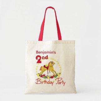 2do Caballo mecedora de la fiesta de cumpleaños Bolsas