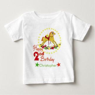 2do Caballo mecedora del cumpleaños Playera De Bebé