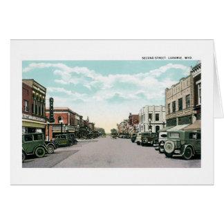 2do Calle, Laramie, Wyoming Tarjeta De Felicitación