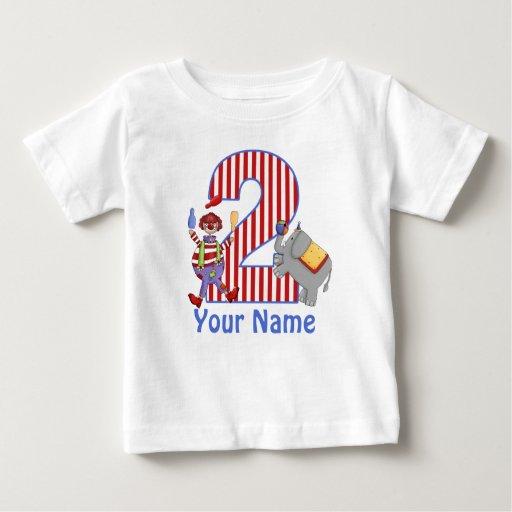 2do Camisa personalizada circo del cumpleaños