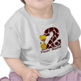 2do Camisa personalizada jirafa del cumpleaños