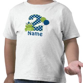 2do Camisa personalizada rana del cumpleaños