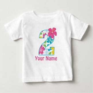 2do Camisa personalizada tropical del cumpleaños
