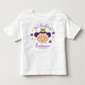 2do Camisa personalizada Twincess del cumpleaños