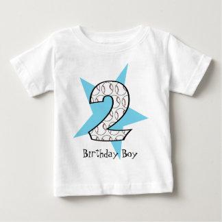 2do Camiseta azul de la estrella de béisbol del