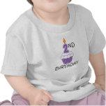 2do Camiseta del bebé del cumpleaños