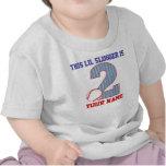 2do Camiseta personalizada béisbol del cumpleaños