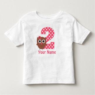 2do Camiseta personalizada búho del cumpleaños
