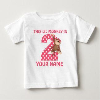 2do Camiseta personalizada chica del mono del