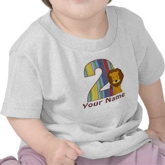 2do Camiseta personalizada león del cumpleaños