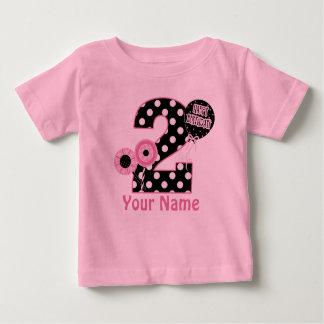 2do Camiseta personalizada negro rosado del