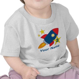 2do Camiseta personalizada Rocket del cumpleaños